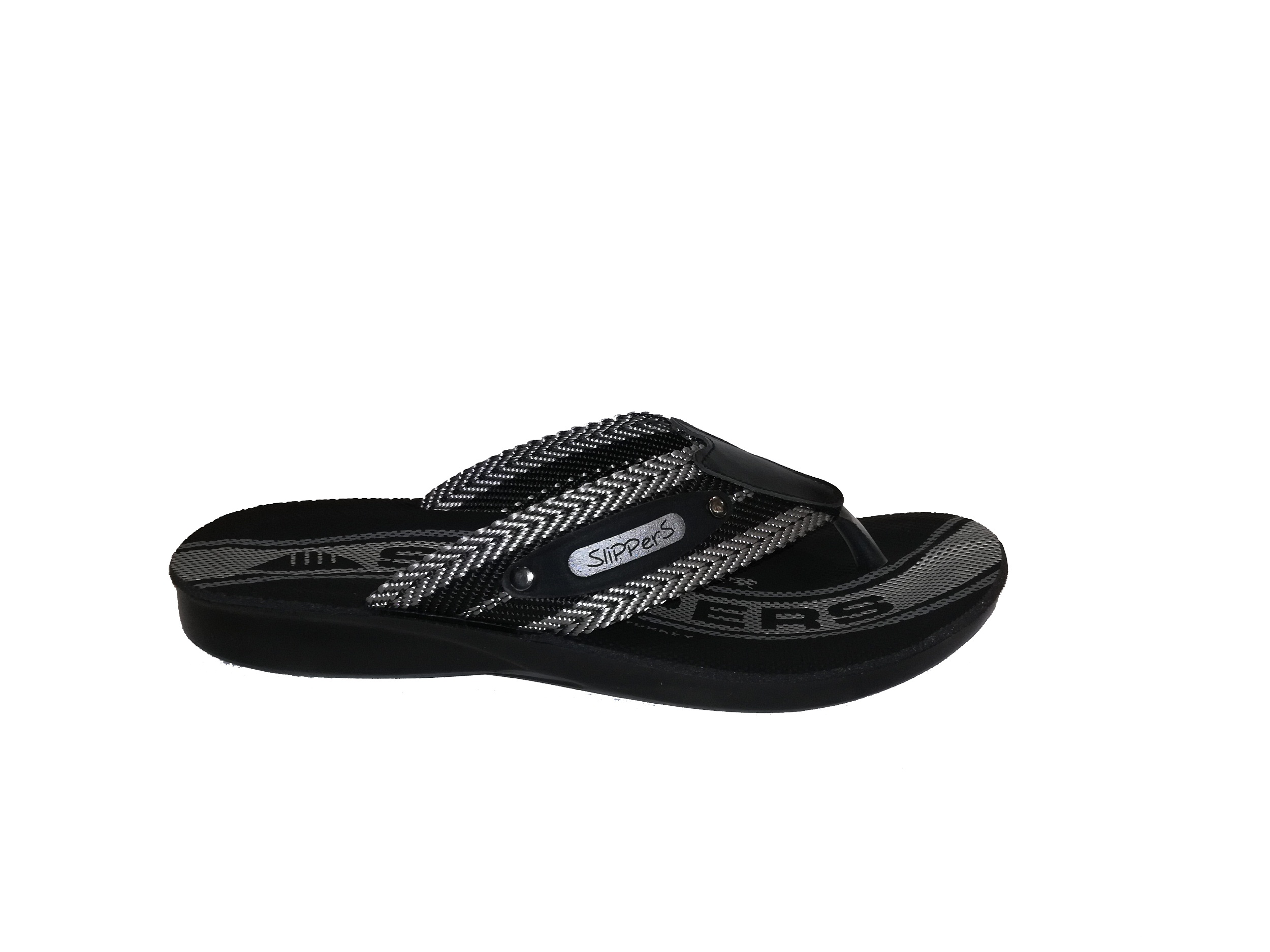 56720 Mne SLIPPERS BLACK-GREY